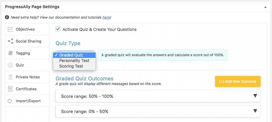 Screenshot quiz graded quiz