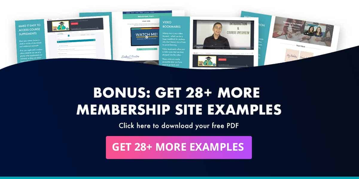 Click to get these 28 membership site examples