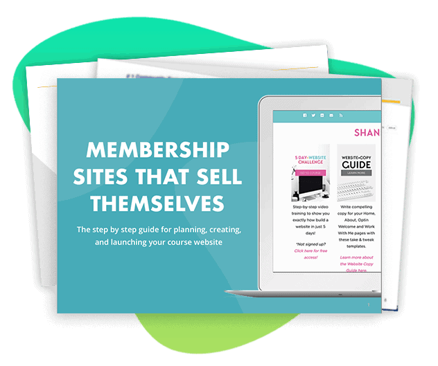 Screenshot of Membership site ebook