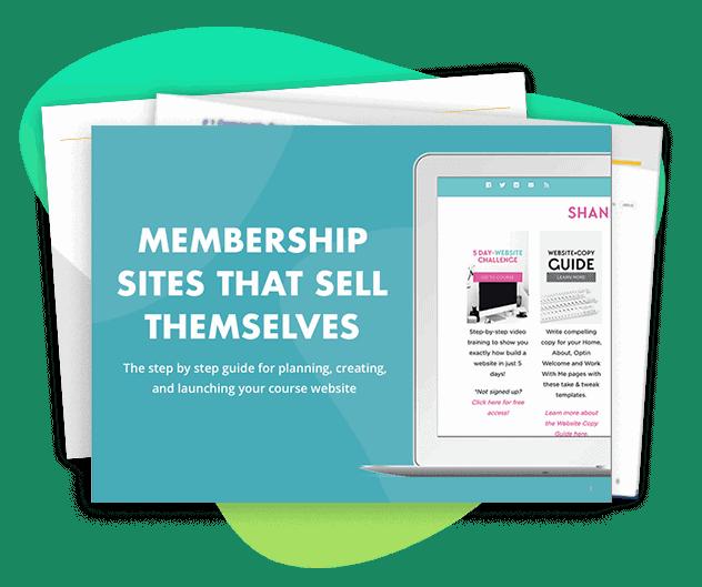 Screenshot of Membership site ebook