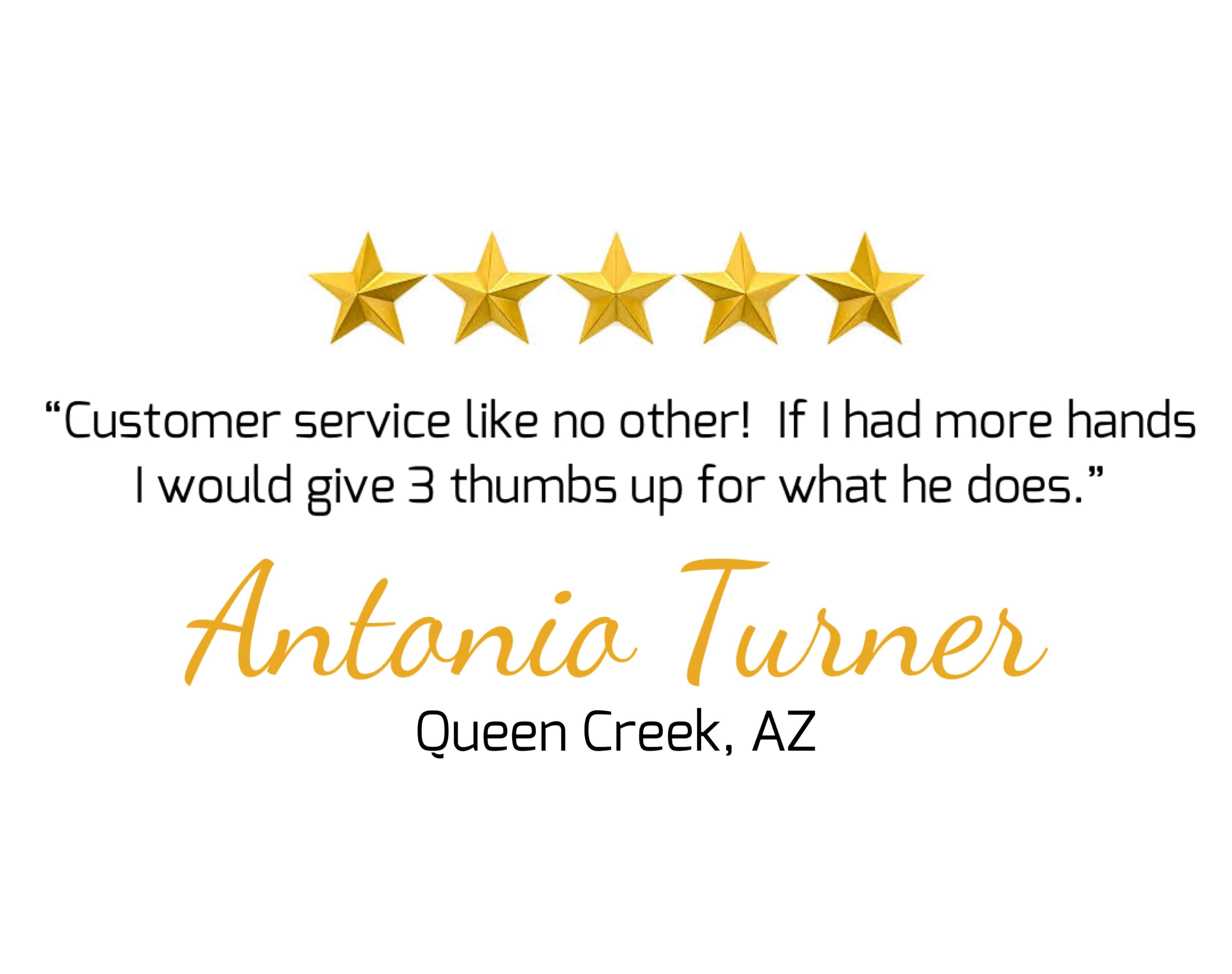 5 star review for Olsen Brothers Window Cleaning- Antonio