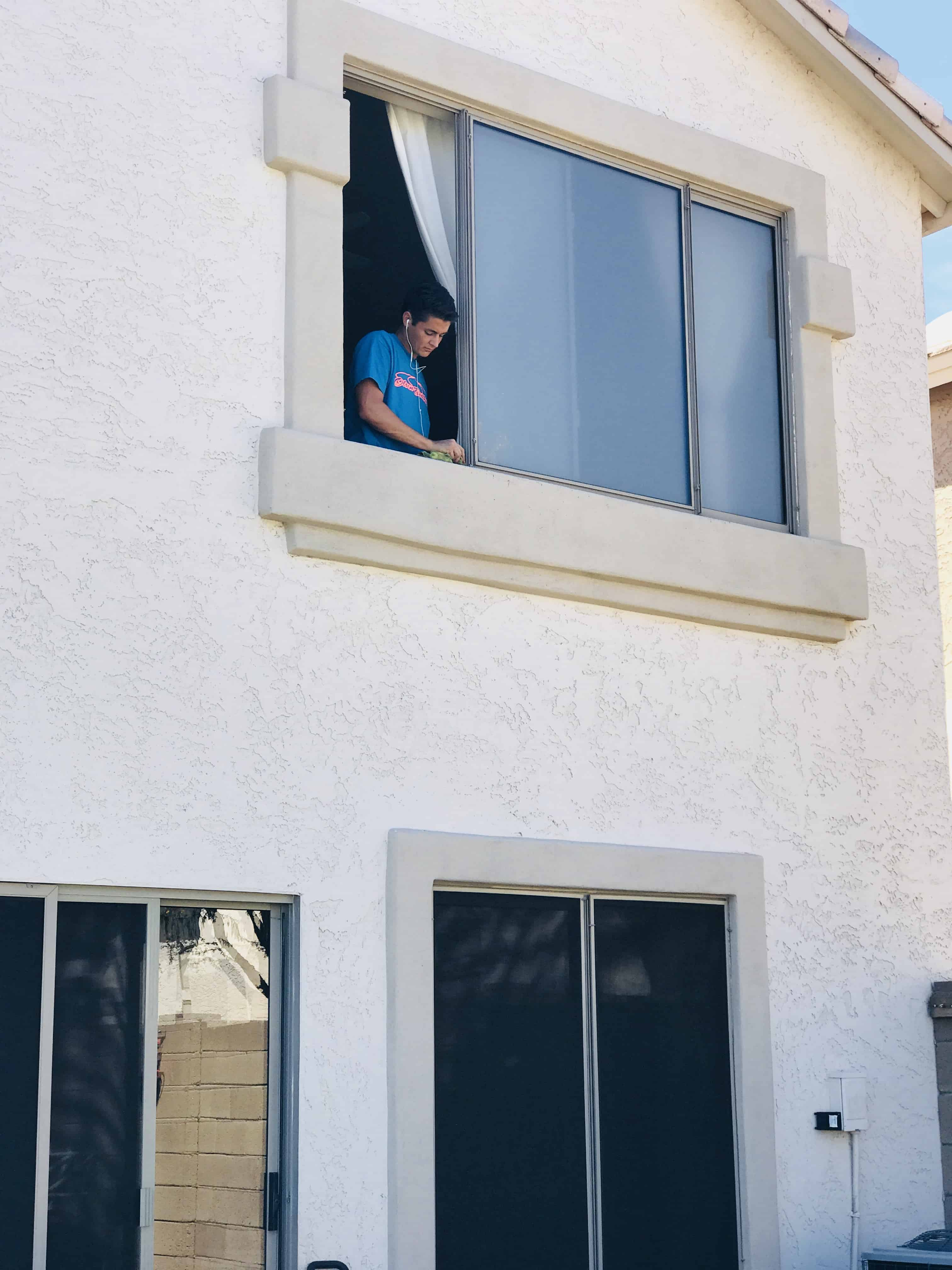 2nd story window cleaning in Chandler, Az