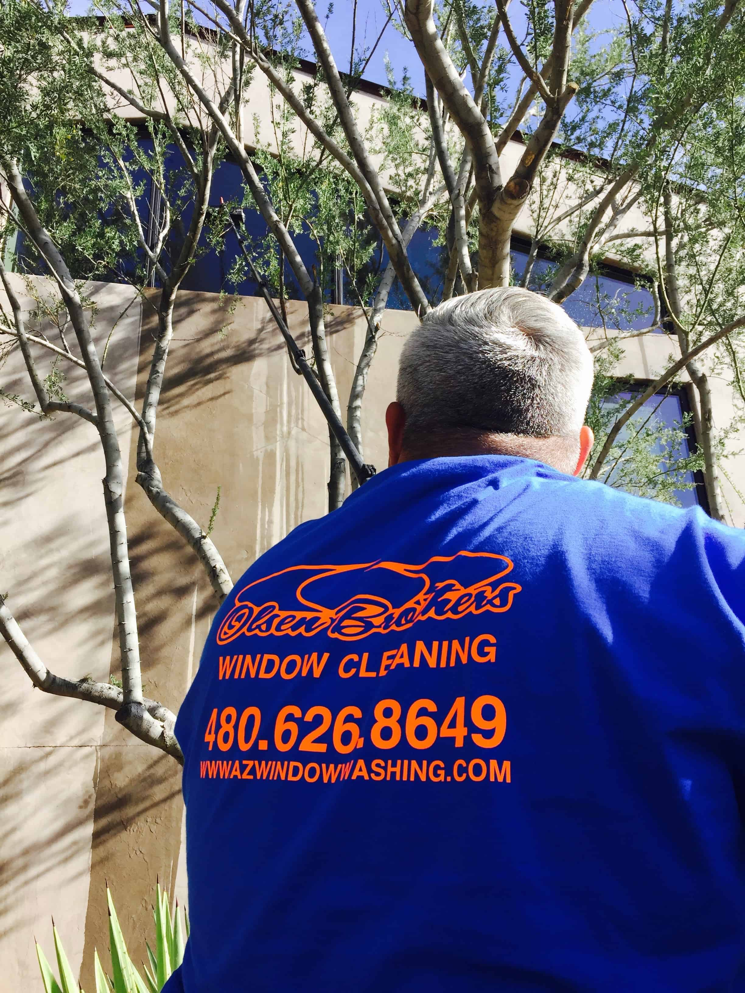 Olsen Brothers window cleaning in Fountain Hills, AZ