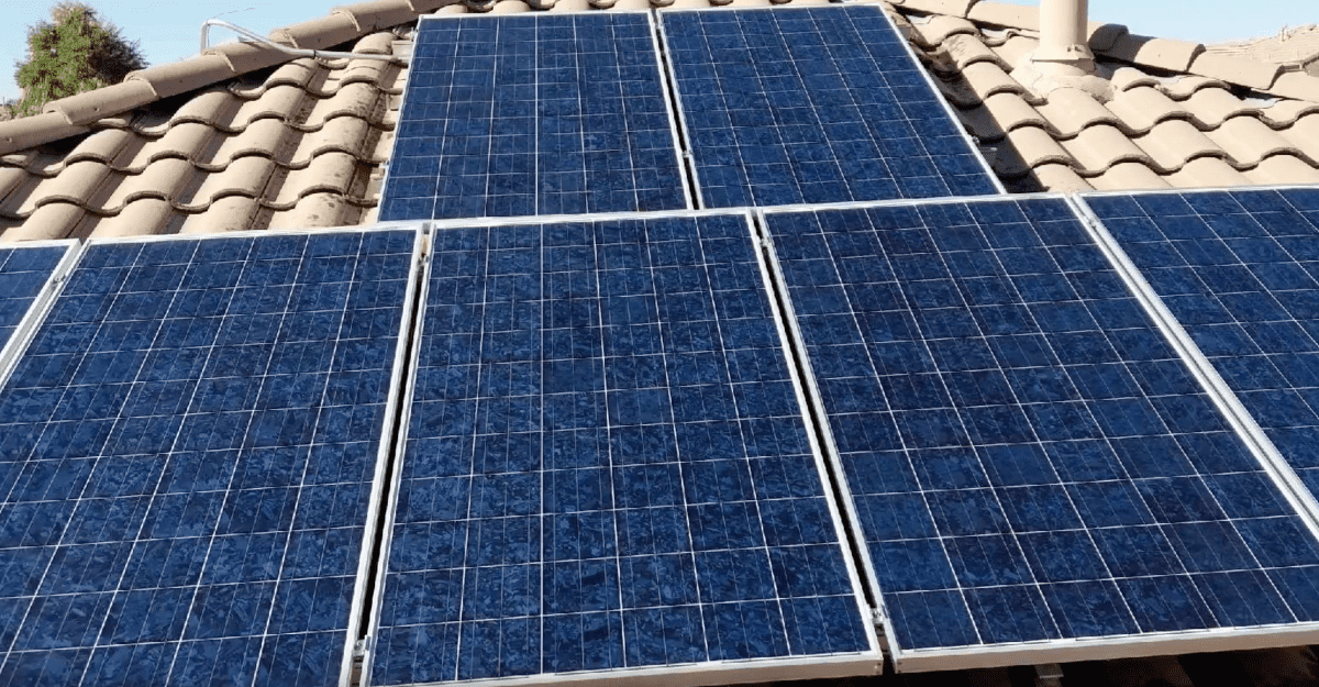 solar panels after cleaning