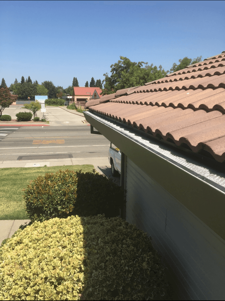 hanging christmas lights with gutter guards