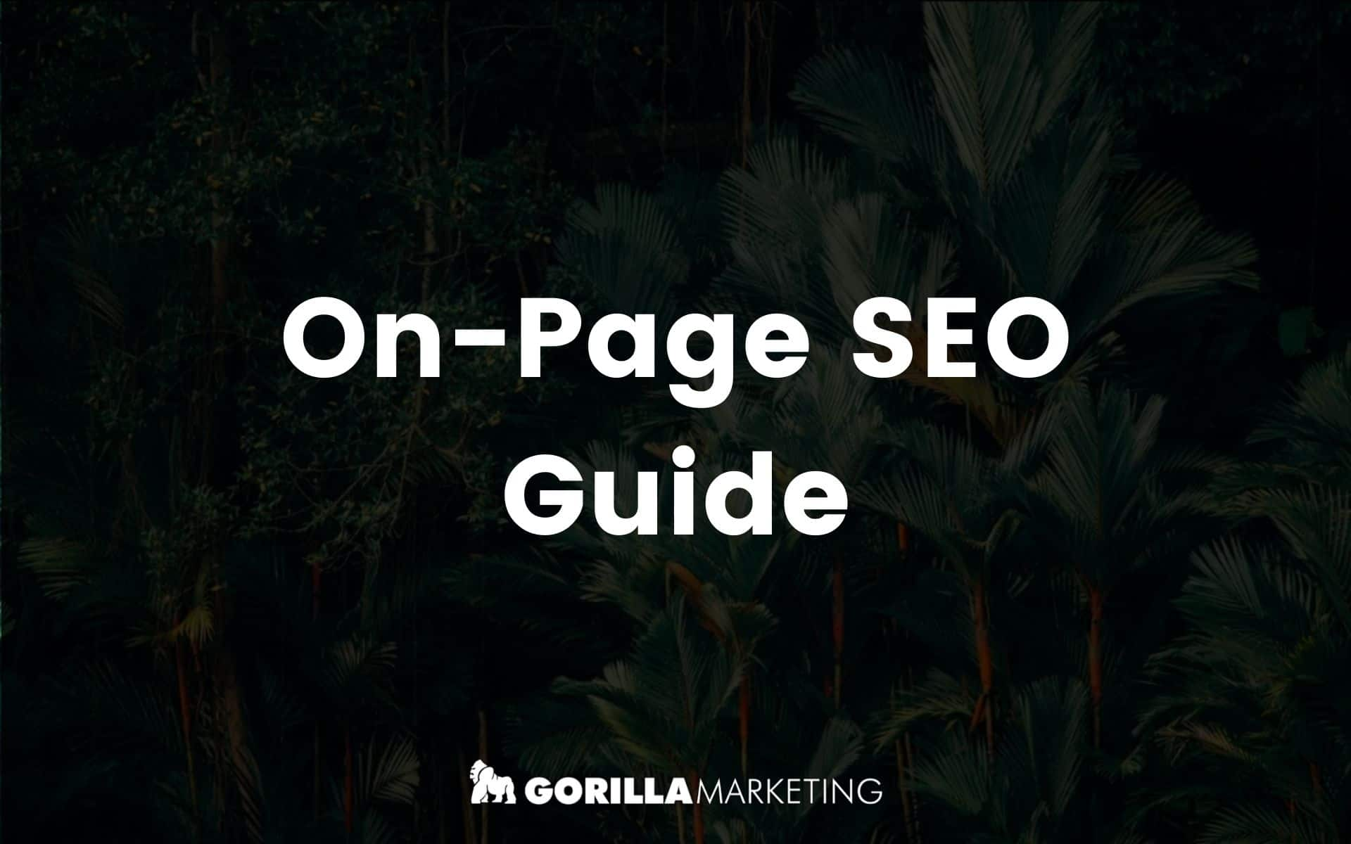 On Page Search Optimisation Guide