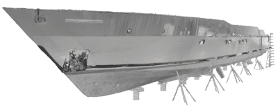 3D hull scanning for reconstruction of lines plan