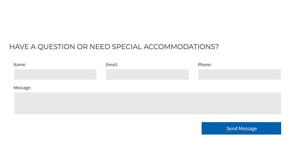 church website contact forms plan a visit have a question or need special accomodations