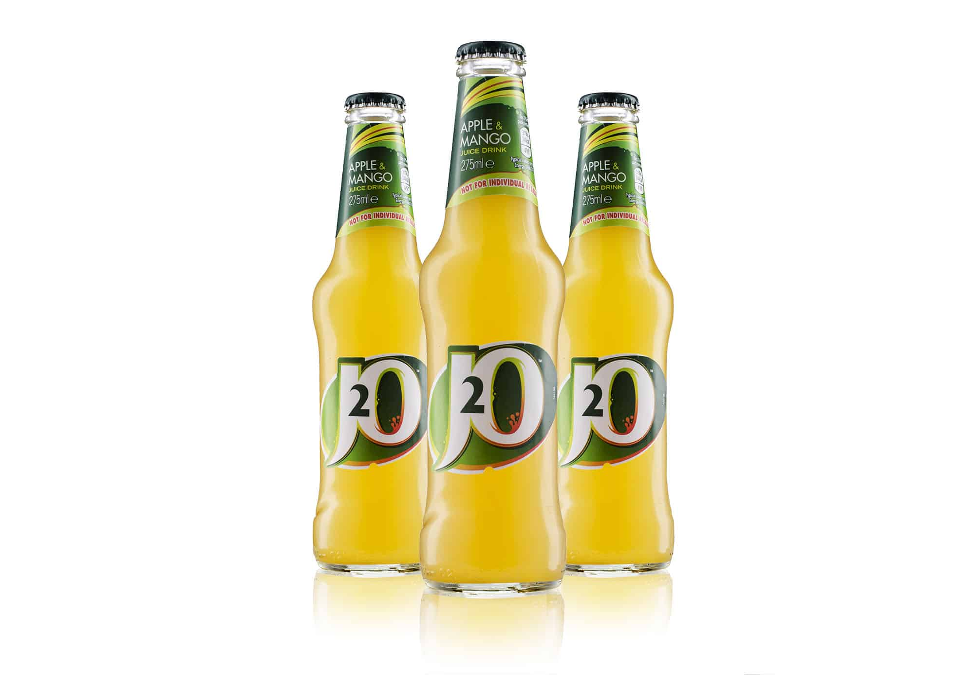 Ian Knaggs Commercial Packshot Photographer - J20 Drink Bottles