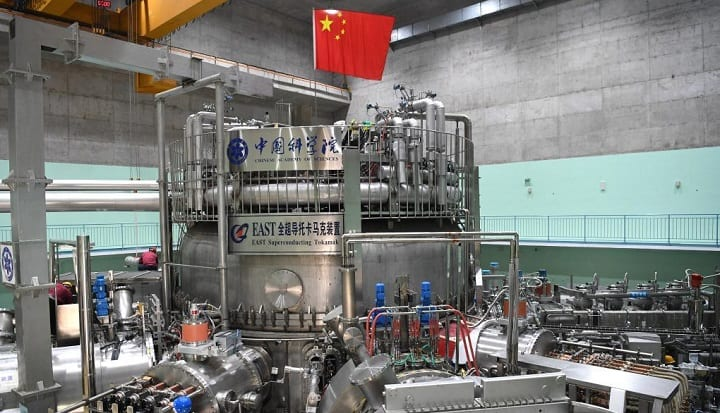 The device achieved an electron temperature of 120 million° C in its core plasma for 101 seconds. Source: Xinhua/Liu Junxi