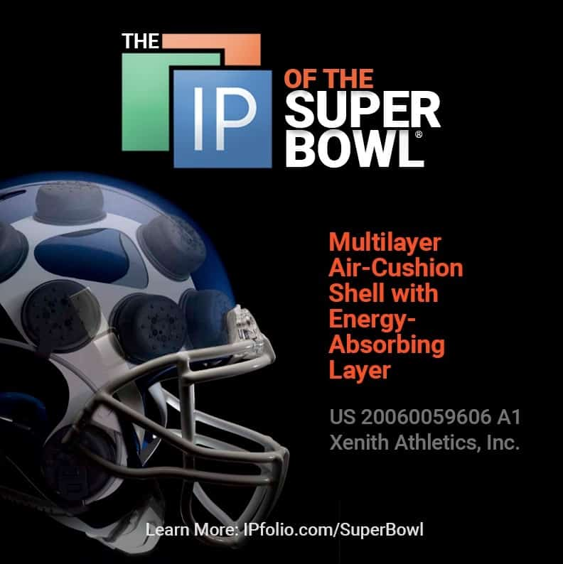 IP of the Super Bowl-Xenith Football Helmet Patent