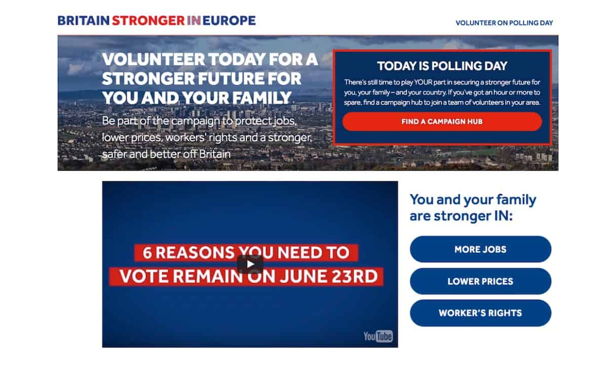 Brexit Remain Messaging