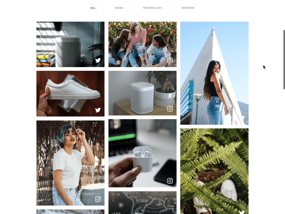 Showcase the latest trends with personalized content feeds