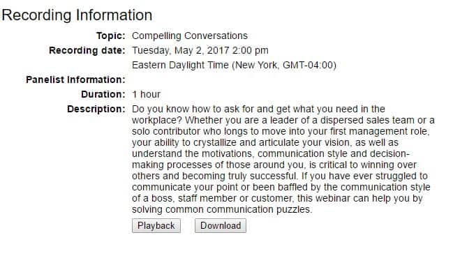 Compelling Conversations CPCU Webinar Screen Image