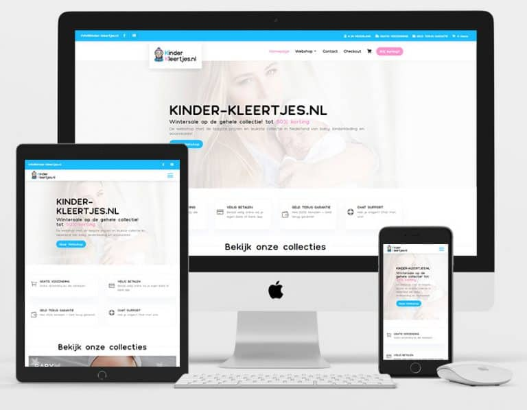 kinder kleertjes webdesign project
