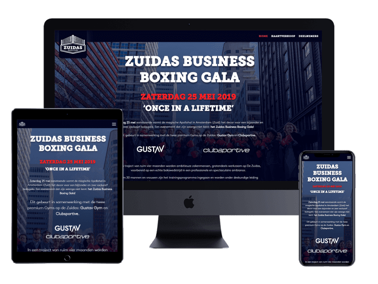 Zuidasbusinessboxing Website Project
