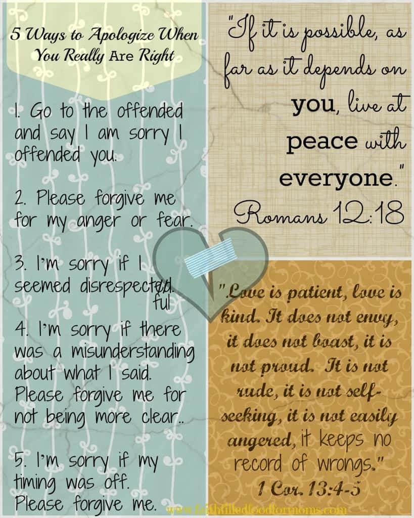 Apologize ways to How to