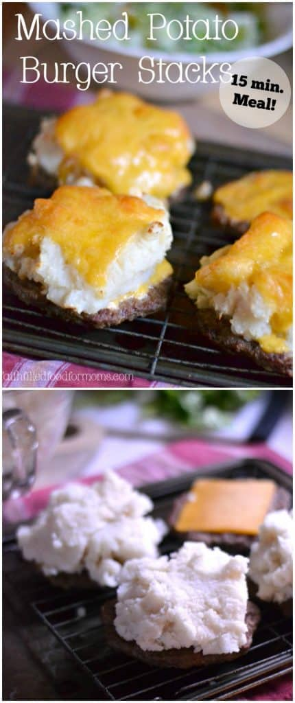 Mashed Potato Burger Stacks With Frozen Burger Faith Filled Food For Moms