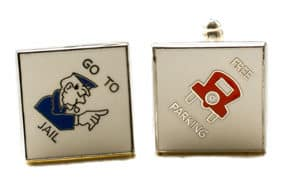 Monopoly cufflinks from Funkycufflinks.com