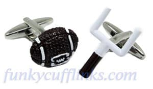 American football and GoalPosts Cufflinks from FunkyCufflinks.com