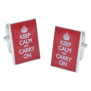 Keep Calm and Carry on Cufflinks