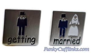 Getting Married Cufflinks