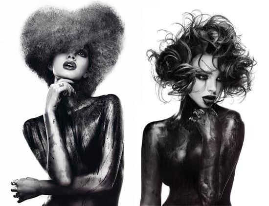 headshot london british hairdressing awards winners 2016 black and white beauty
