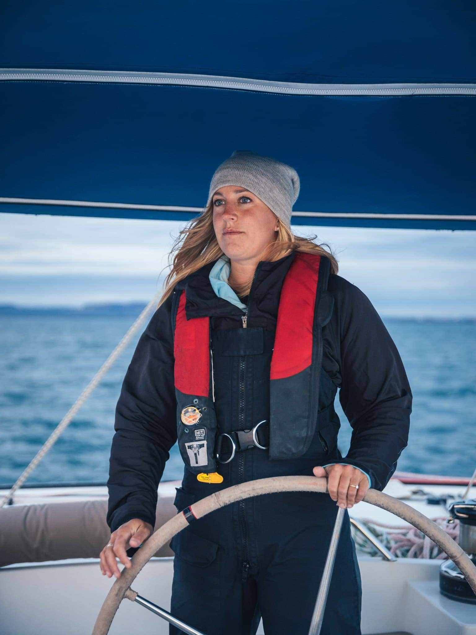 female captain at the helm