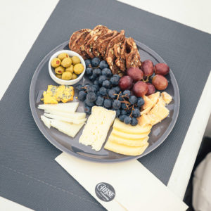 cheese tray sitting on deck