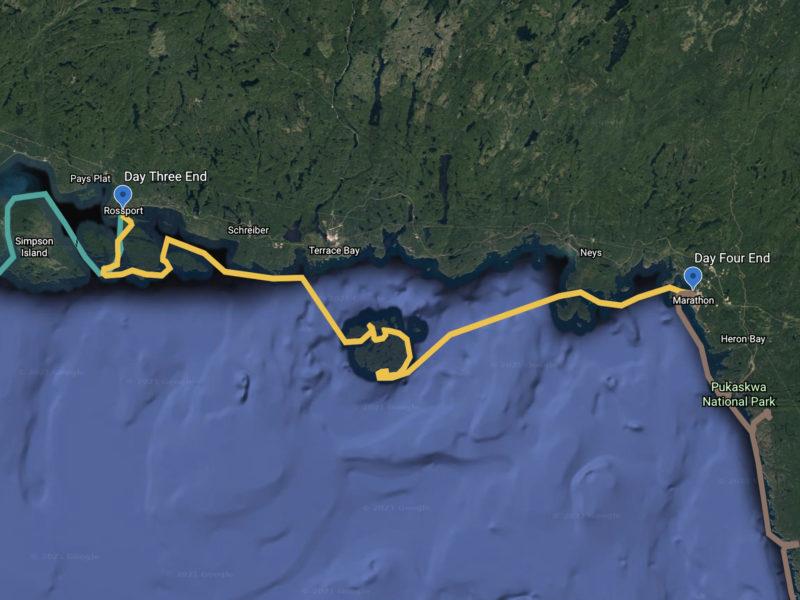 Day 4 Track of the Trans Superior Safari