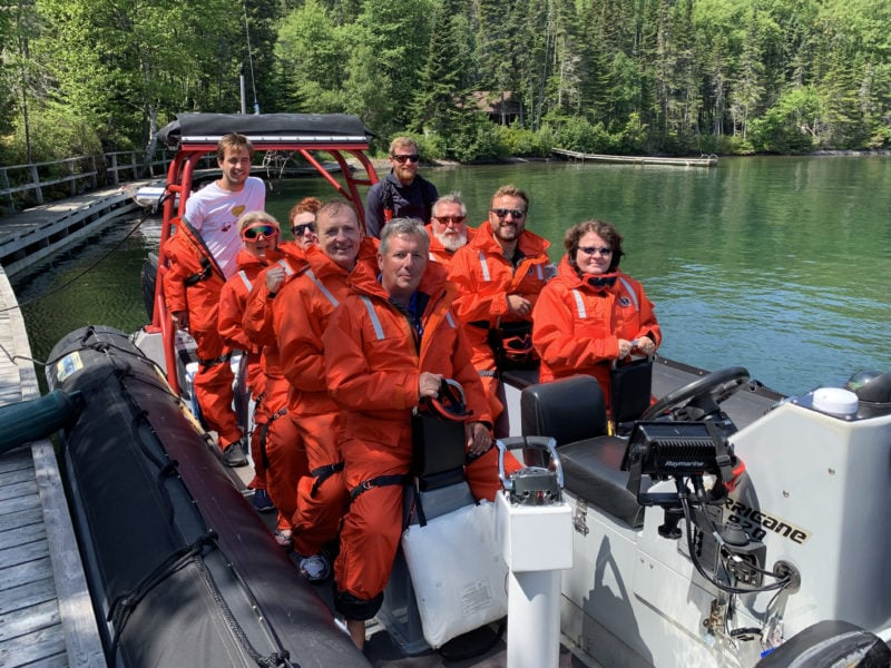 Group ready to head out on the Zodiac Hurricane RHIB to Lake Superior