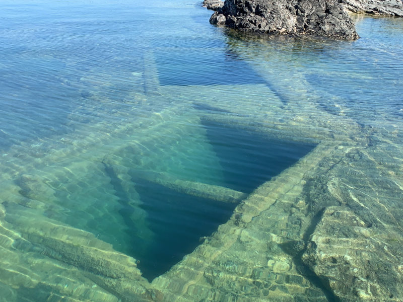 The submerged mine shafts at silver islet