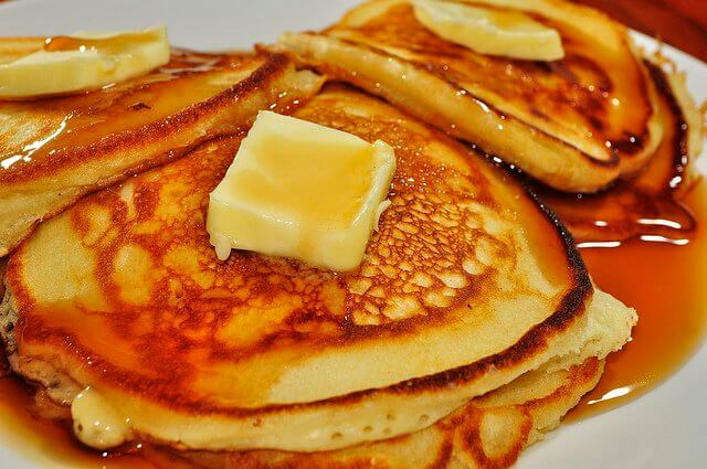 When pancakes are made on the griddle you call them griddle cakes. And they taste that much better.