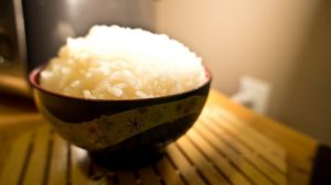 Jasmine rice made with a good rice cooker is always perfect and fluffy.