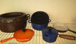 enameled cast iron cookware for high heat cooking