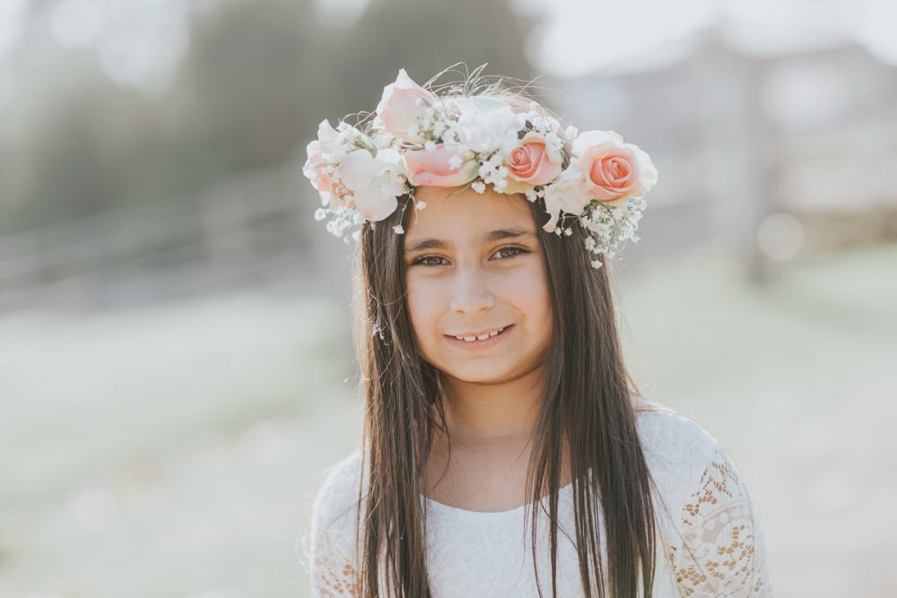pretty girl with flower crown