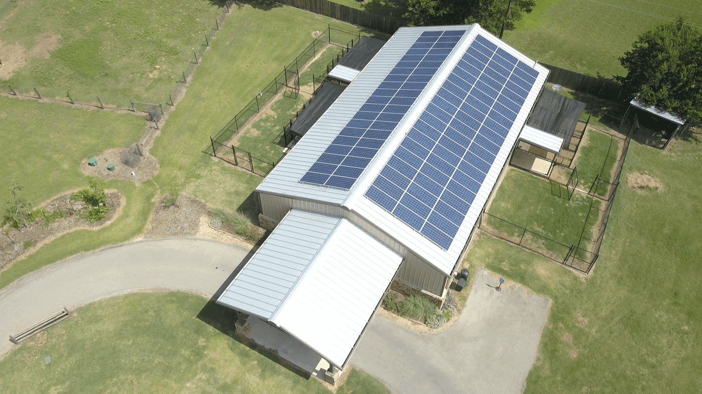 Fayette County Vet Clinic purcahsed their new solar system from Longhorn Solar out of Austin, Texas