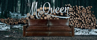 McQueen Classic Track Arm Sofa In Brompton Brown Leather