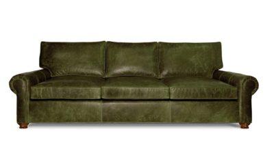 Roosevelt Sofa In Dark Green Leather
