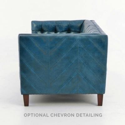 Dylan Tufted Tuxedo Leather Sofa