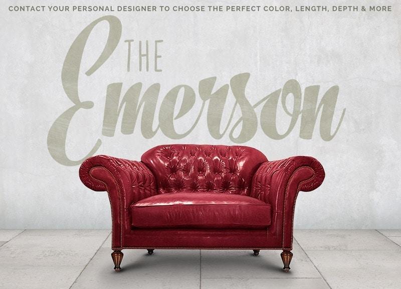 Emerson English Arm Chesterfield Chair