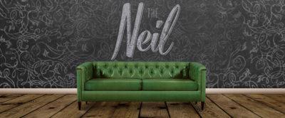 The Neil: Diamond Tufted Mid-Century Tuxedo Style Sofa