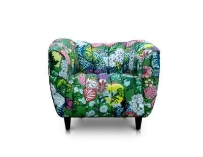 Hughes Art Deco Armchair In Chiang Mai Dragon Fabric