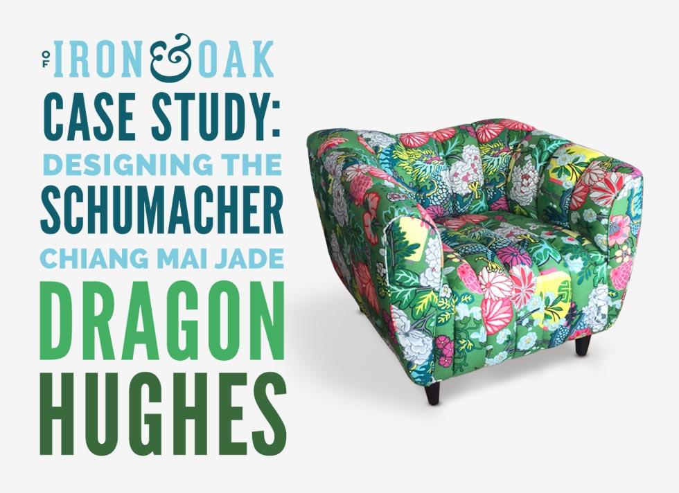 Jade Schumacher Chiang Mai Dragon Hughes Art Deco Club Chair