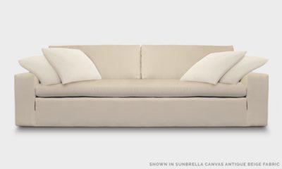 Of Iron And Oak McCloud Cloud Sofa In Sunbrella Canvas Antique Beige Fabric