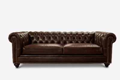 Fitzgerald Chocolate Leather Sofa