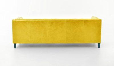 Holiday Mid-Century Tuxedo Sofa In Yellow Leather