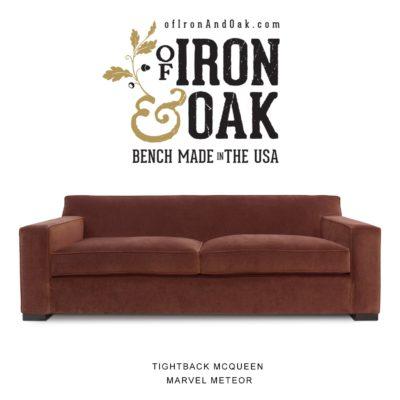 Tightback McQueen American Made Sofa In Marvel Meteor Velvet