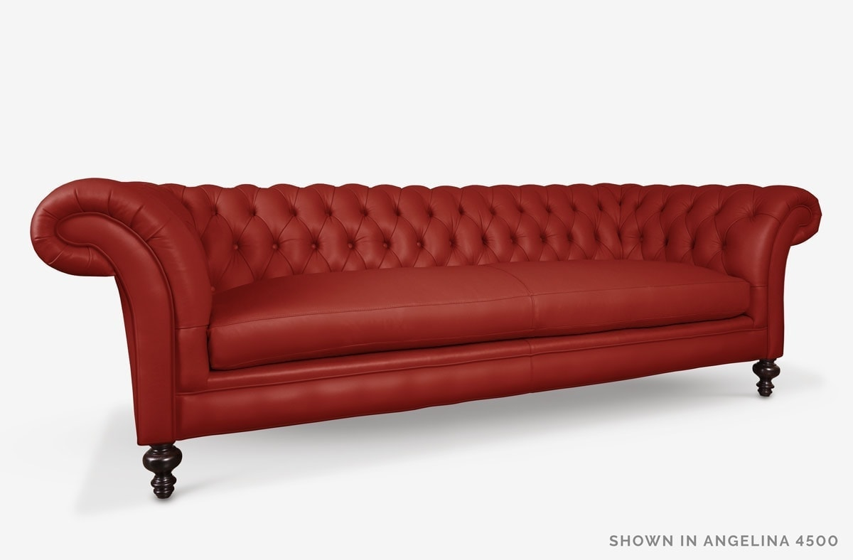 Elizabeth Chesterfield Sofa in Red Leather