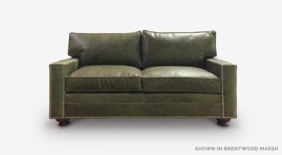 Heston Loveseat In Brentwood Marsh Leather